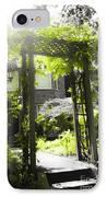 Garden Arbor In Sunlight IPhone Case by Elena Elisseeva