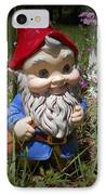 Garden Gnome IPhone Case by Judy Hall-Folde