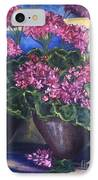 Geraniums Blooming IPhone Case by Sherry Harradence