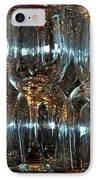 Glasses On A Bar IPhone Case by Leo Sopicki