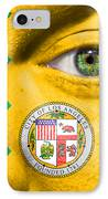 Go Los Angeles IPhone Case by Semmick Photo