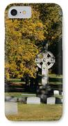 Graceland Cemetery Chicago - Tomb Of John W Root IPhone Case by Christine Till
