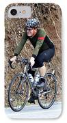 Grand Fondo Rider IPhone Case by Susan Leggett