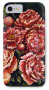 Grandma Lights Peonies IPhone Case by Linda Simon