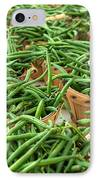 Green Beans In Baskets At Farmers Market IPhone Case by Teri Virbickis