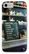 Groceries In General Store IPhone Case by Susan Savad