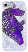 Guinea Fowl Puffer Fish In Purple IPhone Case by Bill Caldwell -        ABeautifulSky Photography