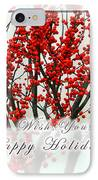 Happy Holidays IPhone Case by Xueling Zou