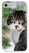 Hazel Eyes And Pine IPhone Case by Christina Rollo
