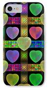 Hearts IPhone Case by Sandy Keeton