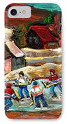 Hockey Rinks In The Country IPhone Case by Carole Spandau