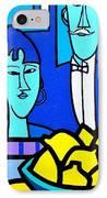 Homage To Modigliani IPhone Case by John  Nolan