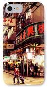 Hong Kong Street IPhone Case by Ernst Cerjak
