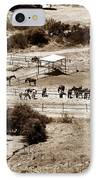 Horse Farm At Kourion IPhone Case by John Rizzuto