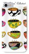 Hot Cuppa Whimsical Colorful Coffee Cup Designs By Romi IPhone Case by Megan Duncanson