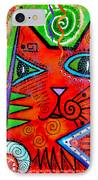 House Of Cats Series - Bops IPhone Case by Moon Stumpp