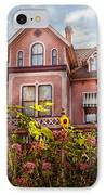 House - Victorian - Summer Cottage  IPhone Case by Mike Savad