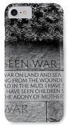 I Hate War IPhone Case by Allen Beatty