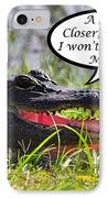 I Won't Bite Greeting Card IPhone Case by Al Powell Photography USA