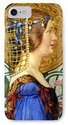 If One Could Have That Little Head Of Hers IPhone Case by Eleanor Fortescue Brickdale