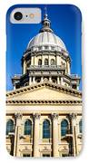 Illinois State Capitol In Springfield IPhone Case by Paul Velgos