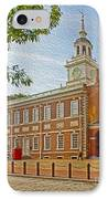 Independence Hall Philadelphia  IPhone Case by Tom Gari Gallery-Three-Photography