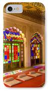 India, Stained Glass Windows Of Fort IPhone Case by Bill Bachmann