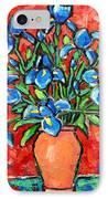 Iris Bouquet IPhone Case by Ana Maria Edulescu