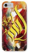Islamic Calligraphy 026 IPhone Case by Catf