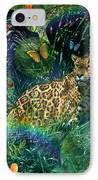 Jaguar Meadow IPhone Case by Alixandra Mullins