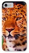 Jaguar IPhone Case by Michael Pickett