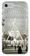 Jardin Des Tuileries Park Paris France Europe  IPhone Case by Jon Boyes