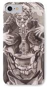 Jerry Garcia . . Magic Is What We Do - Music Is How We Do It IPhone Case by Sean Connolly
