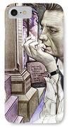 Johnny Cash-hurt IPhone Case by Joshua Morton