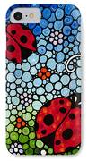 Joyous Ladies Ladybugs IPhone Case by Sharon Cummings