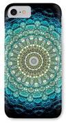 Kaleidoscope Aquamarine Bubbles IPhone Case by Amy Cicconi
