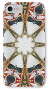 Kaleidoscope Wheel IPhone Case by Cathy Lindsey