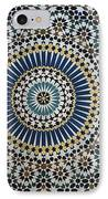 Kasbah Of Thamiel Glaoui Zellij Tilework Detail  IPhone Case by Moroccan School