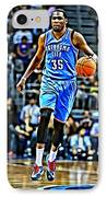 Kevin Durant IPhone Case by Florian Rodarte