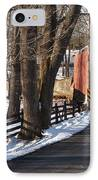 Knecht's Bridge On Snowy Day - Bucks County IPhone Case by Anna Lisa Yoder
