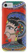 Lady In Ornaments IPhone Case by Shakhenabat Kasana
