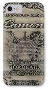 Lamont Grand Vin De Bordeaux  IPhone Case by Jon Neidert