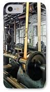 Large Lathe In Machine Shop IPhone Case by Susan Savad