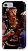 Larry Bird IPhone Case by Marvin Blaine