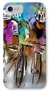 Le Tour De France 03 IPhone Case by Miki De Goodaboom