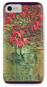 Leaves On The Creek 3 With Small Border 3 IPhone Case by L Brown
