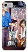 Led Zeppelin Page And Plant Live Aid 1985 IPhone Case by Chuck Spang