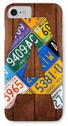 Letter A Alphabet Vintage License Plate Art IPhone Case by Design Turnpike