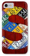 Letter S Alphabet Vintage License Plate Art IPhone Case by Design Turnpike