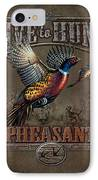Live To Hunt Pheasants IPhone Case by JQ Licensing